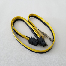 100 יח\חבילה PCI E כרטיס מסך 6pin זכר 6Pin זכר מתאם & 2x6.3 מסוף כוח כבל למחשב סבר כוח הכורה DIY