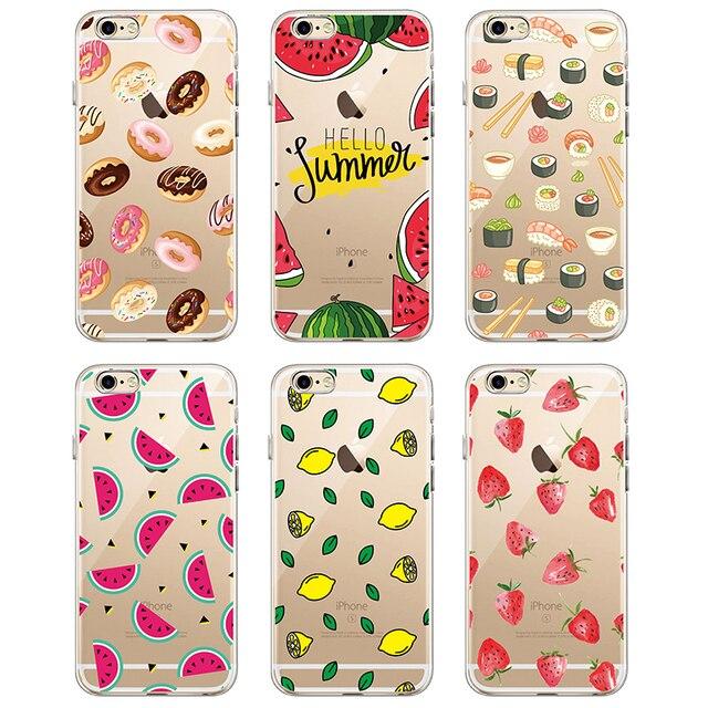 For Samsung Galaxy J5 A8 A5 S8 S9 S7 Plus Food Fruit Coffee Pineapple Lemon Banana Cactus Strawberry Sushi Phone Case fundas