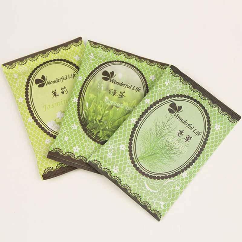 Pacote perfumado do refrogerador de ar do guarda-roupa da grão natural do saquinho da fragrância da casa de 6x9cm 12 sabores aleatórios entregam t77
