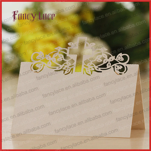 50pcs Hot Sale Place Card Name Cards Cross Table Decoration Baby Shower Family Invitation Cards For Party Event Supplies