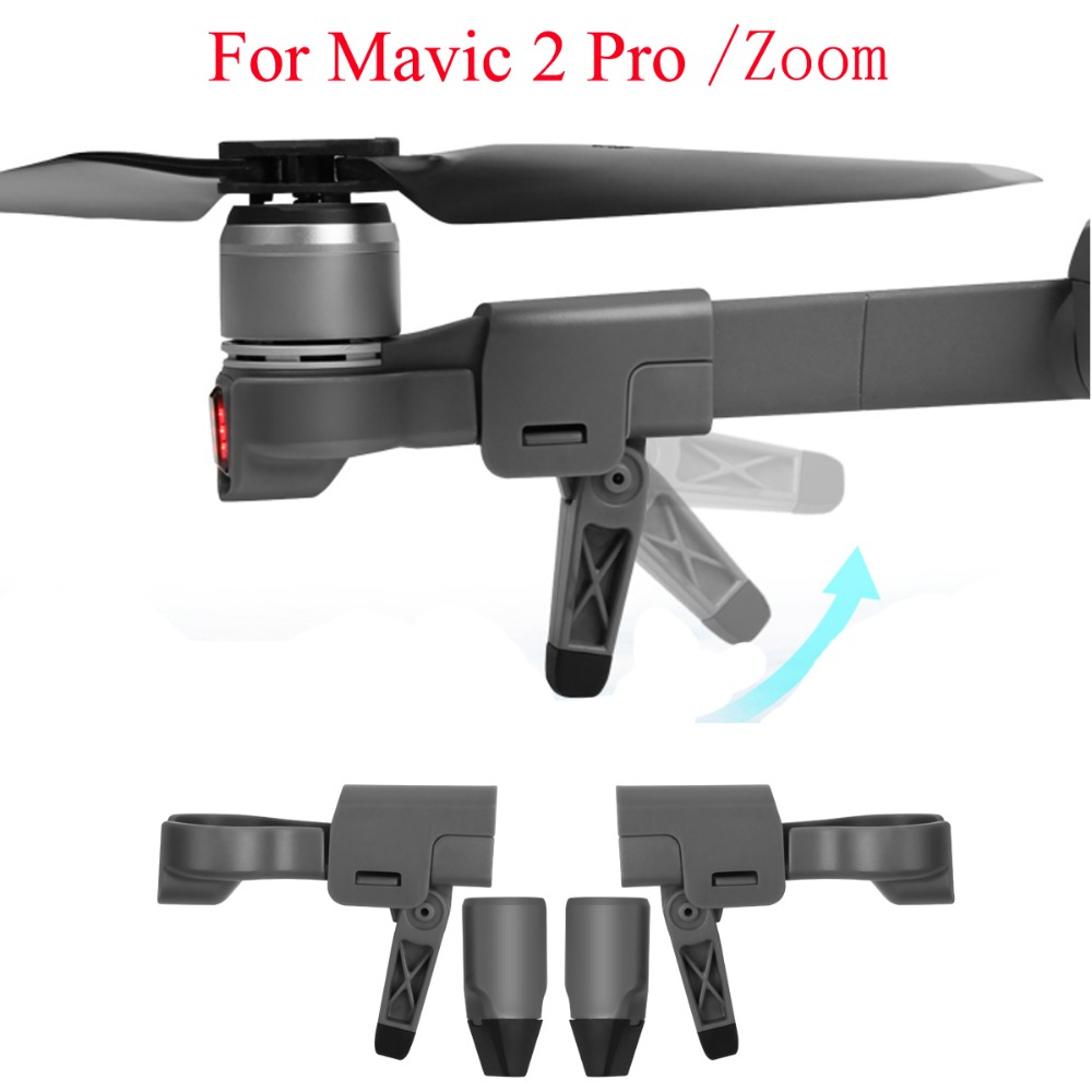 Foldable Heightened Landing Gears For DJI Mavic 2 Pro Zoom Camera Drone
