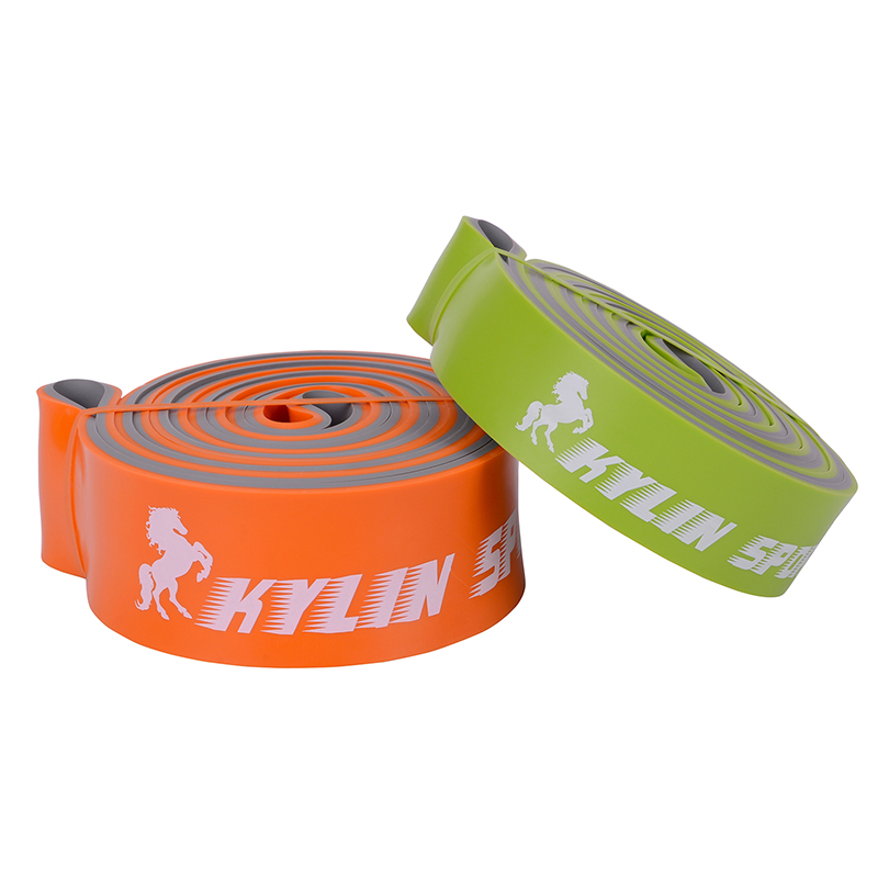 Set Of 2 Resistance Bands orange and green Exercise Fitness Tube Rubber Kit Set Yoga Pilates Workout Fitness Sport Equipment