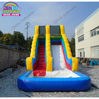 8*3.5*4 meters giant inflatable water pool slide,inflatable blow up slide with air blower
