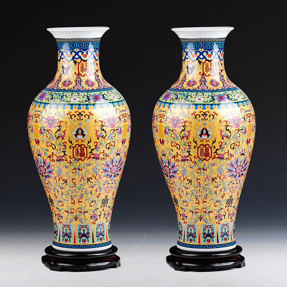 luxury jingdezhen antique longevity porcelain enamel floor vase classical decoration large. Black Bedroom Furniture Sets. Home Design Ideas
