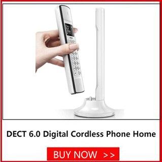 lcd telefone sem fio para escritório em casa preto
