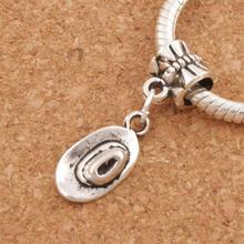 Cowboy Hat Charm Beads 27.7x8.2mm 100pcs Antique Silver Dangle Fit European Bracelets Jewelry DIY B409 frog charm beads 30 8x15 6mm 100pcs antique silver dangle fit european bracelets jewelry diy b167