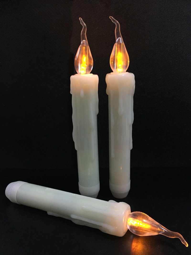 LED Taper Battery Operated Flameless Candle Dipped wax Flickering Electric light lamp f Wedding Xmas Home