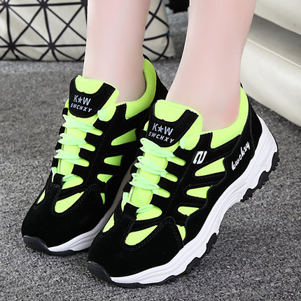 2016 new fashion women's autumn and winter new leather shoes fall shoes wild casual shoes Zapatillas shoes free shipping