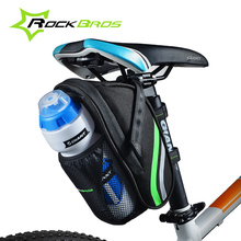 2017 Hot RockBros Bicycle Bag Quick Install MTB Mountain Road Bike Bag Water Bottle Pouch Design Cycling Rear Seat Saddle Bag