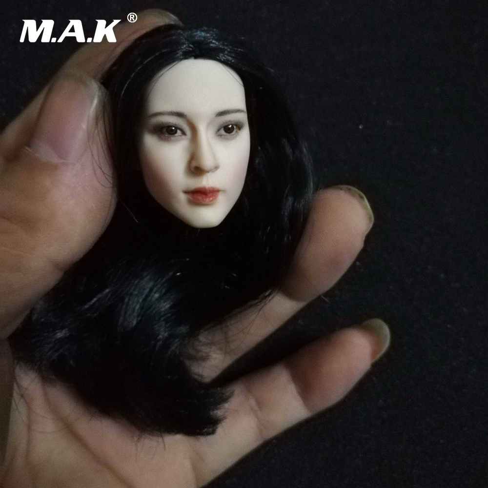 1/6 Scale Asia Beautiful Female Head Sculpt Ghost Story Wang Zuxian Head Carving Model Toys for 12 inches Pale PH Figure Body недорого