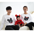 2017 autumn family look children mickey t shirts mother son outfits matching mother daughter clothes mae e filha mommy and me
