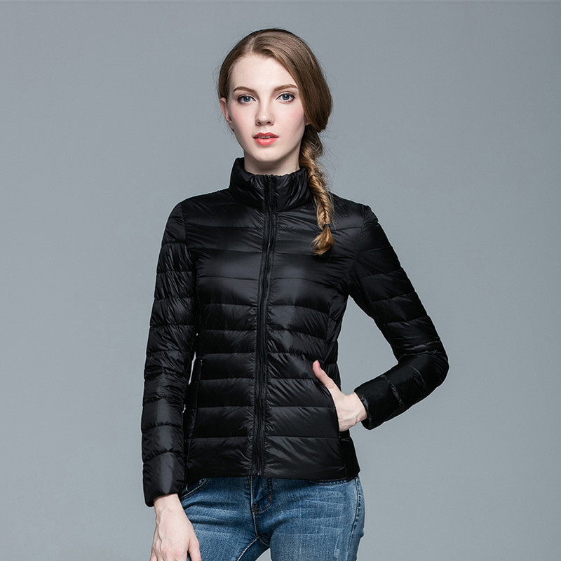 2019 Plus Size Women Winter Warm   Coat   Casual Slim Cindy 13 Colors White Duck   Down   Zipper Light Lady Parkas 3XL 2XL XL L M S