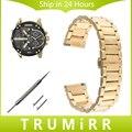 20mm 22mm de liberación rápida de acero inoxidable hebilla de la correa de muñeca venda de reloj para los hombres diesel mujeres butterfly pulsera negro oro plata