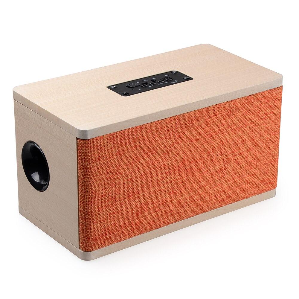 Hifi Speaker Wood Wireless Bluetooth Speaker Portable Computer Speakers 3D Loudspeakers for TV Home Theatre Sound Bar AUX цена 2017