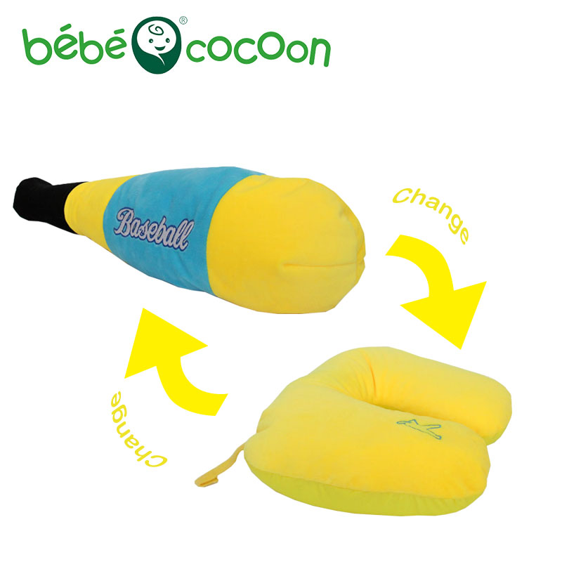 Bebecocoon Convertible U-shaped Neck Pillow Decorative Pillows Kawaii Baseball stick Stuffed Plush Toy Multifunctional Pillow