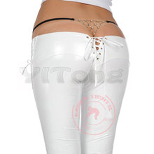 New Latex Catsuit Pencil Pants  Low Waist Casual Pants Sexy Underwear Leggings Night Club Dance Wear Black White