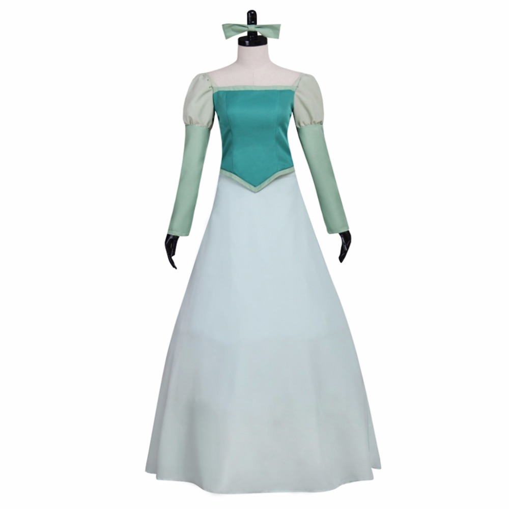 Beauty and the Beast Adult's Dress Cosplay Custom Made Women's Green Dress  Bell Dress Cosplay for Evening Ball Gown Party