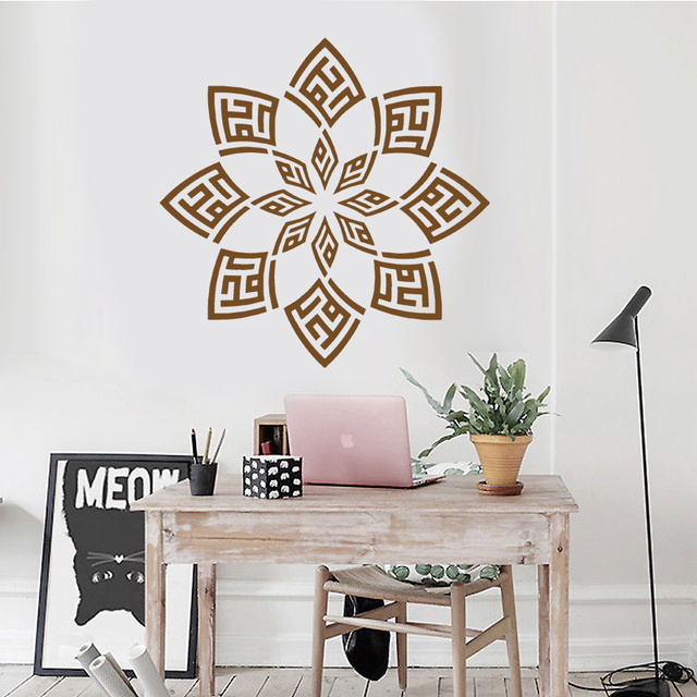 Alhamdulillah Floral Islamic Muslim Wall Sticker Art Decals Home Decoration  Vinyl Furniture Deursticker Room Mural F725