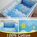 5 PCS 100X60 Cotton Baby Boy Crib Bedding Set Fundamento Do Bebê Infantil conjuntos Para Menino Menina Bebê Crib Bumper Berço Bumper CP01