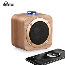 AIDISITE Rotating Tuning Bluetooth Speaker Wooden  Wireless Portable Loudspeaker Sound 3D Stereo USB Charging