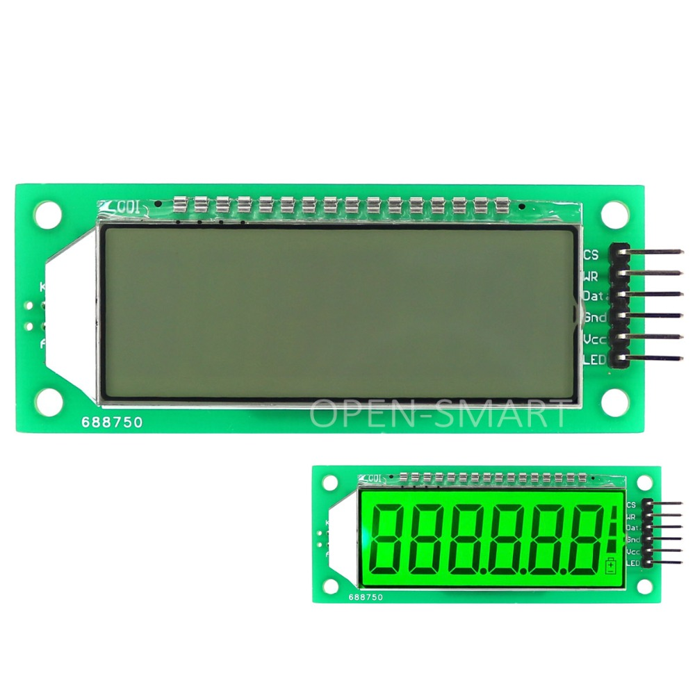 Lcd Display Module Green Backlight 24 Inch 6 Digit 7 Segment The 4digit 7segment Led Driver Circuit We Will Build Using A Ht1621 Ic With Decimal Point For Arduino