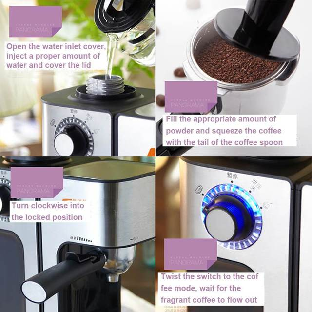 0.24L 5 Cups Electric Coffee Maker / Milk Foam Maker Office Espresso Italian Style Automatic Insulation Electric Coffee Machine 5