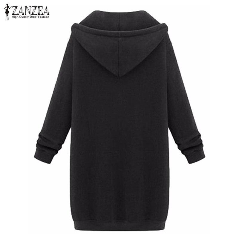 anzea осень-зима 2018 прошел для женщин длинные Talk Talk пальто на молнии верхняя одежда куртка с caption плюс размеры верхняя одежда топы correcting