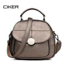 Ciker женщины двойное плечо Crossbody мешок дизайнер Многофункциональный женский ПУ кожа рюкзак винтаж Bolsas SAC основной Mochila