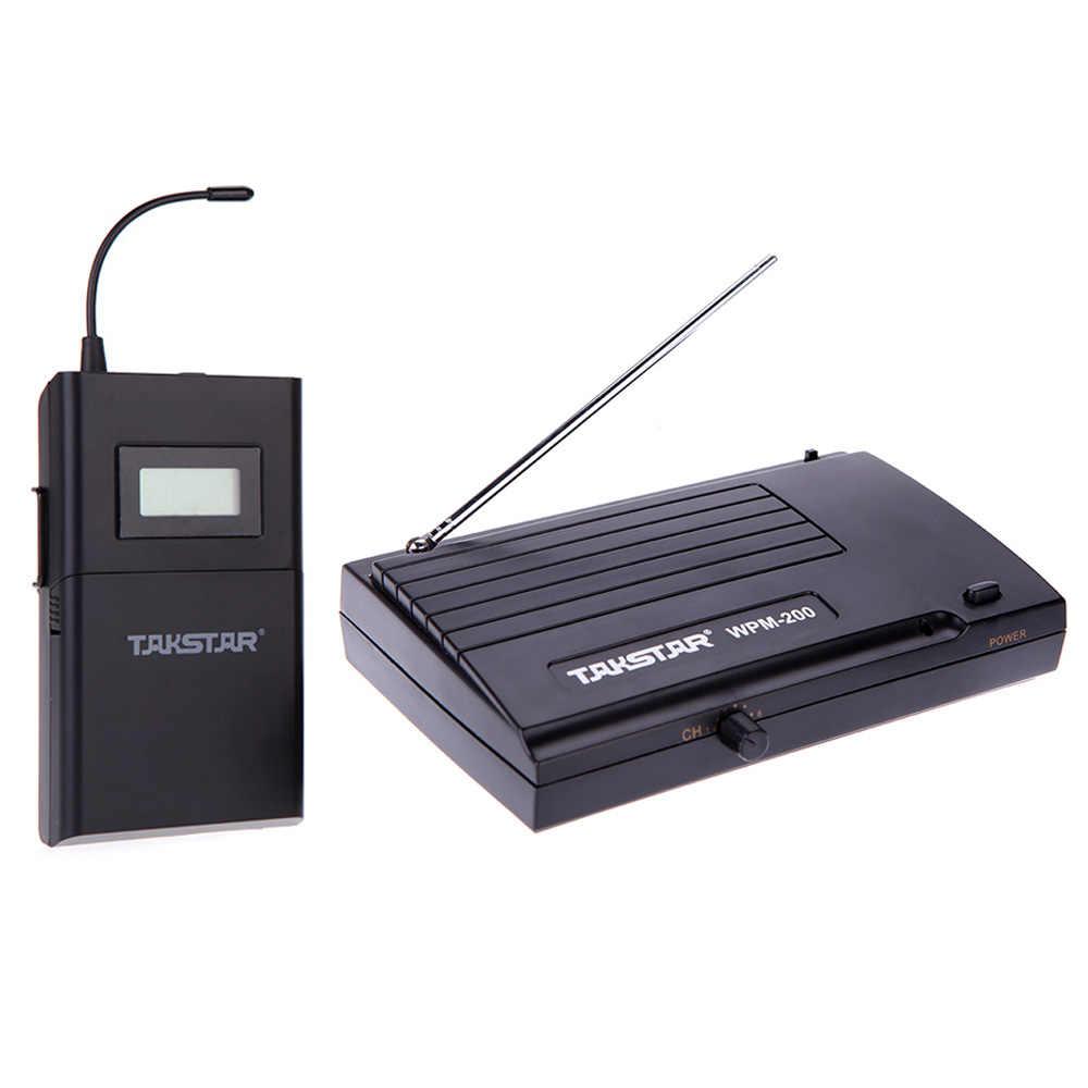 Takstar WPM-200 système de moniteur sans fil UHF écouteurs stéréo intra-auriculaires casque émetteur récepteur 50m Distance LCD 6 canaux