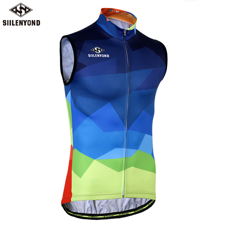 Siilenyond 2018 Hot Breathable Cycling Vest Summer Racing Bicycle Clothing Maillot Ciclismo Sportwear MTB Sleeveless Bike Jersey