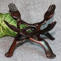 Burma red cherry wood special offer decoration tray rack Zhaocai Bergamot fruit hand