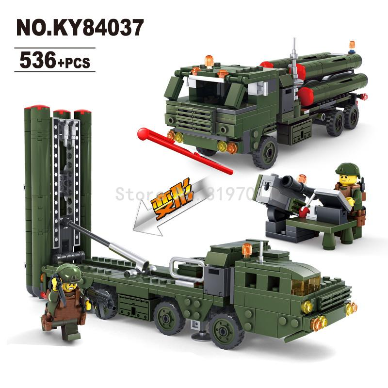 KAZI Missile Launcher Field Army Series Action Figure Block Building Model Bricks Kit  Assemblage Toys For Children Gifts kazi military series fighter coastal guard ship action models bricks sets educational building block toys for children gifts