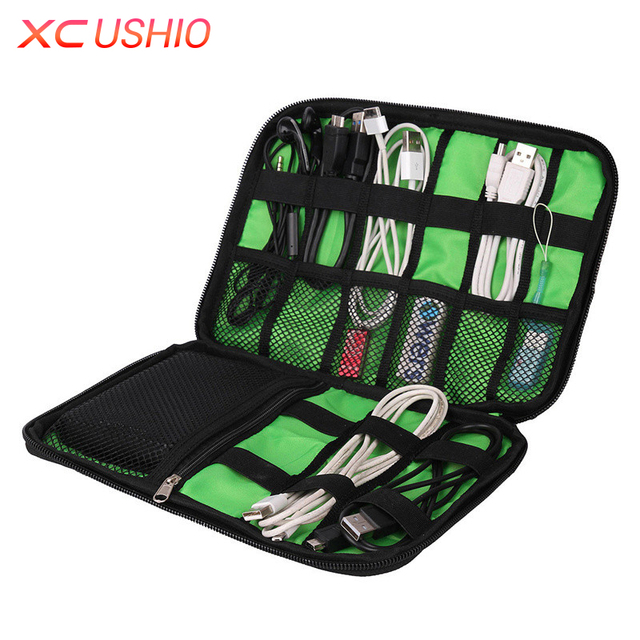 Multifunctional Travel Digital Device Shockproof Case Earphone Charger Data Cable Storage Bag Electronic Accessories Bag