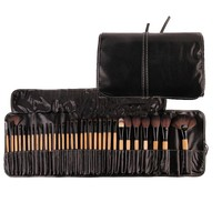 32Pcs Beauty Essential Professional Make Up Brushes Set Pink Black Gold Cosmetic Makeup Brushes Kit Brushes with Leather Case