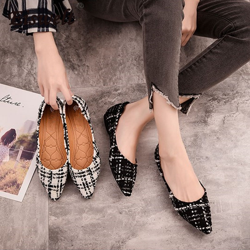 EISWELT New Arrival Patent Leather Flat Women Ballet Flats Shoes Women Plus Size 43 Black Square Toe Bowtie Shoes Black for Lady 2014 new gold scorpion black patent leather flat women sandals shoes free shipping