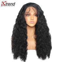 180% Density Synthetic Lace Front Wig Ombre Pink Wigs For Black Women Curly Long Natural Hair Lacewig Perruque Rose 14&24 inch