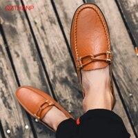Мужская обувь; мокасины из коровьей кожи; лоферы; Tenis Masculino Adulto; обувь ручной работы на плоской подошве; Мужская обувь для взрослых; Размеры ...