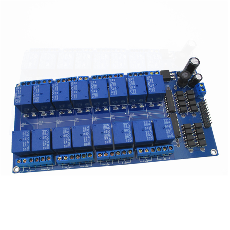 16 way 12V relay module relay control panel with optocoupler protection LM2576 electric