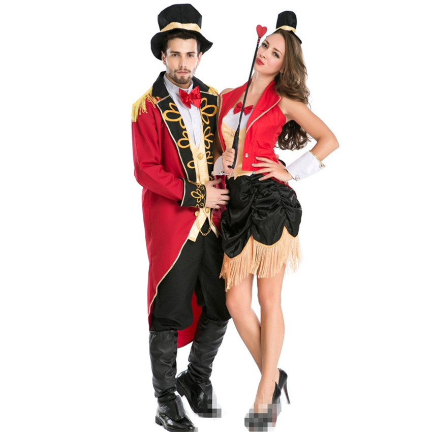 Luxury Halloween Lovers Costumes Magician Beast Trainer and Assistant Cosplay Costumes Sexy Role Play Fancy Disfraces H1571438