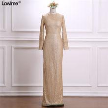 83e667117d Neck Long Sleeve Lace Vintage Prom Dress Promotion-Shop for ...