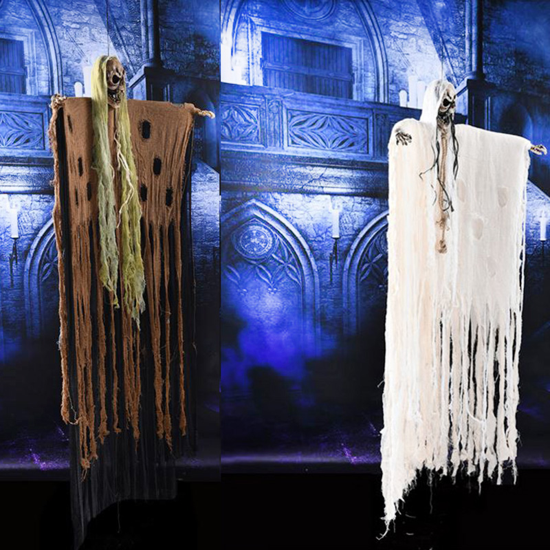 2oocm*130cm Large Halloween Skeleton hanging ghosts halloween horror props decoration for Haunted house and bar sound control2oocm*130cm Large Halloween Skeleton hanging ghosts halloween horror props decoration for Haunted house and bar sound control
