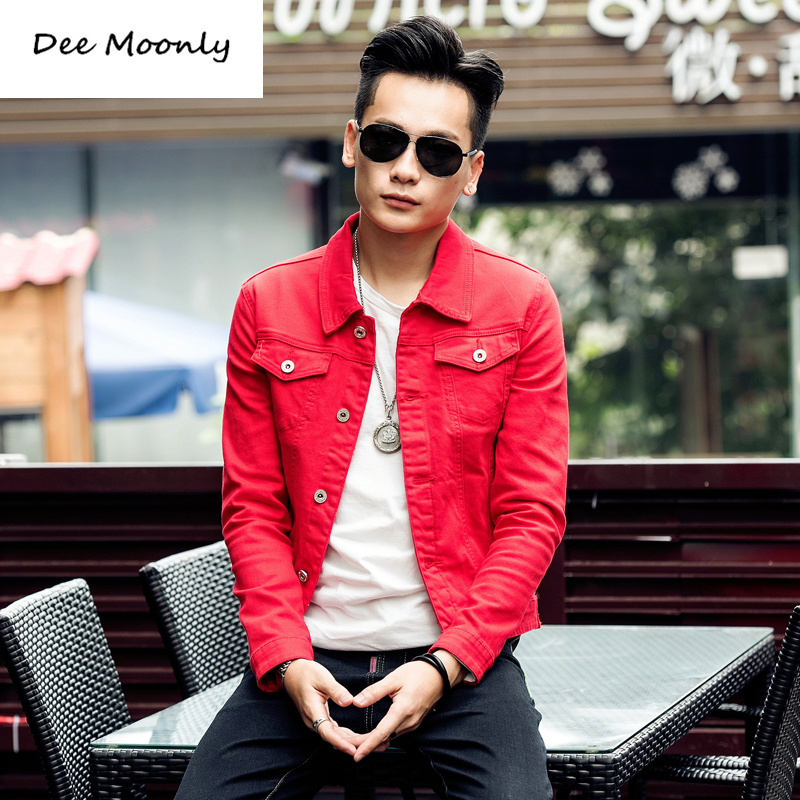 dee moonly 2016 new slim mens jackets and coats casual denim jacket men veste homme men jeans. Black Bedroom Furniture Sets. Home Design Ideas