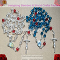 6mm acylic beads rosary necklace,  catholic rosary icon rosary with alloy cross and rosary centerpiece