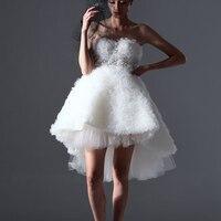 [EWQ]2018 New Summer Fashion Original Design Three dimensional Flower Split Joint Strapless Bead Dress Woman Tailor made AZBL446