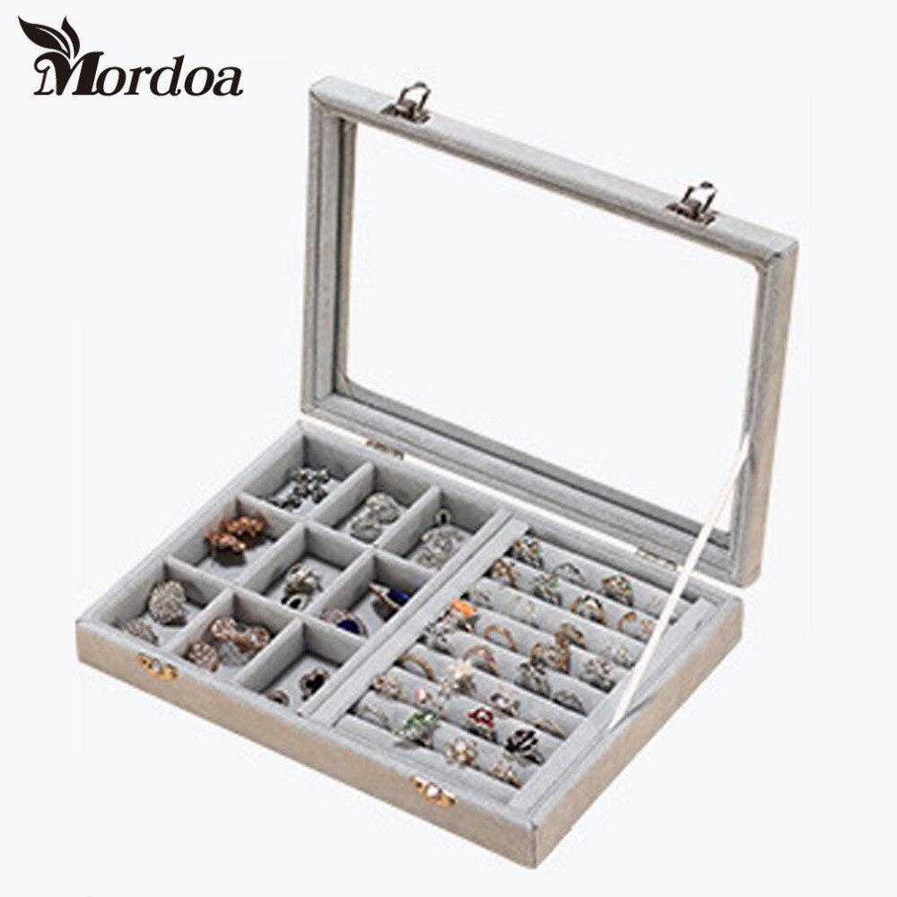 Fashion velvet jewelry display casket jewelry organizer for Ring case
