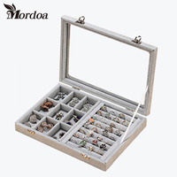 Fashion Velvet Jewelry Display Casket Jewelry Organizer Bracelets Ring Necklace Pendant Box Case Jewlery Gift Box Jewelry Box