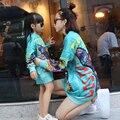 Mãe E Filha se Veste roupas de Natal Outono Inverno roupas de algodão Meninas Vestido Olhar Família mãe e filha Combinando