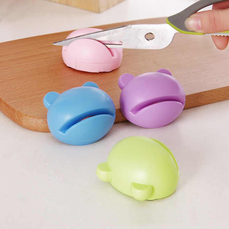 Kolorowe śliczne Mini ostrzałka wielofunkcyjna osełka profesjonalny nóż nożyczki nóż do owoców ostrzenia Afilador Cuchillos
