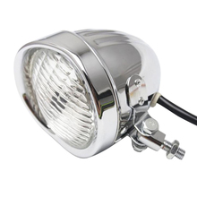 Motorcycle Headlight for  Bobber Chopper Softail Chrome Clear Aluminum Classic Bottom Mount Bates Style
