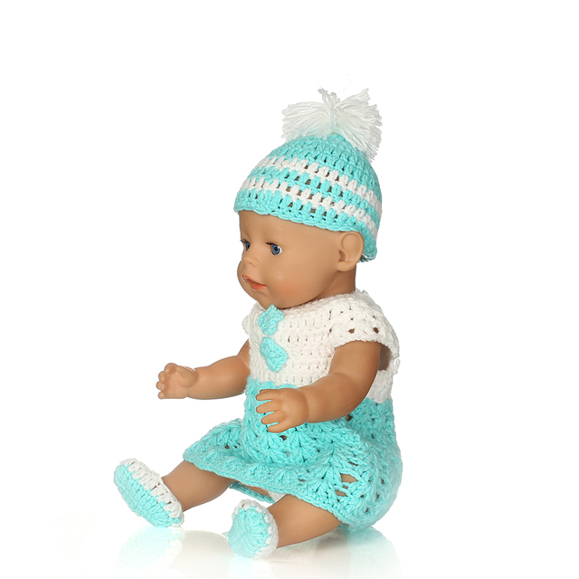 Blue Sweater 4 Piece Suit Doll Clothes Wear fit 18 inch American Girl c3143492cf86